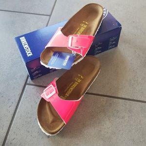 Neon Pink Birkenstock Madrid Sandals
